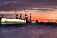 Hamburg, Hafen, HDR 3